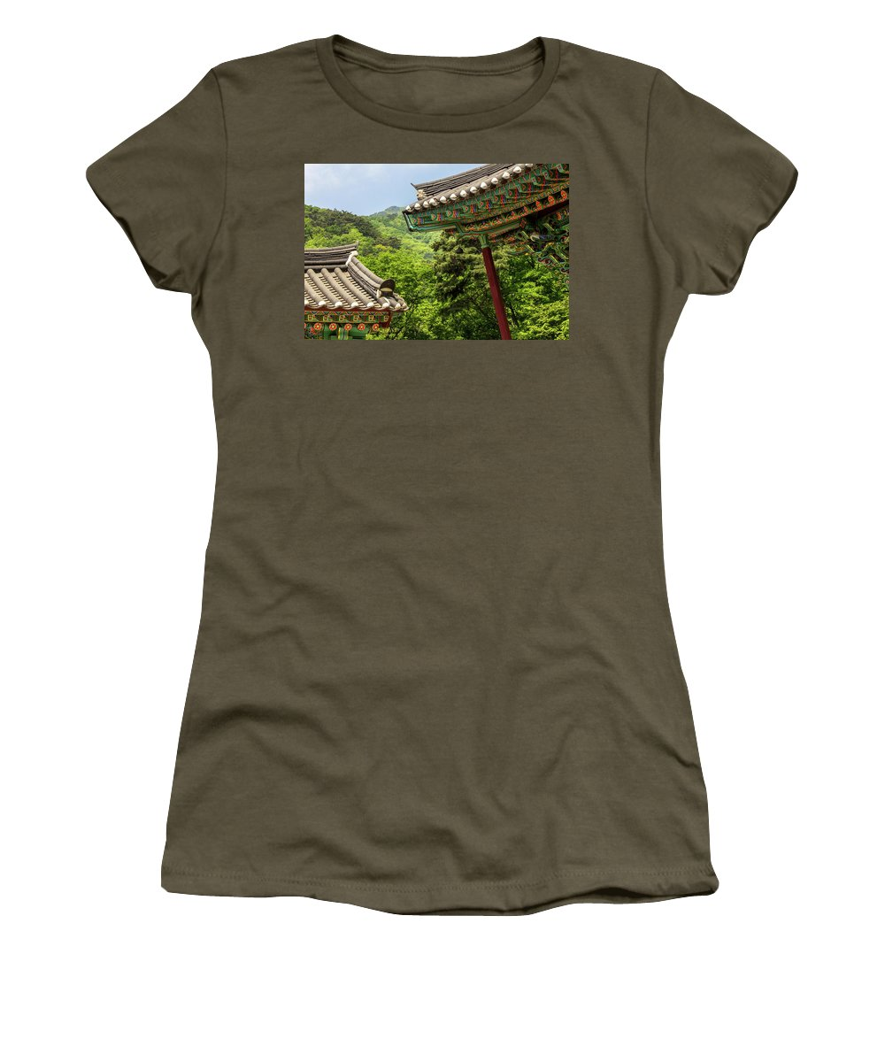 Asia Women's T-Shirt featuring the photograph Yongmunsa by Peteris Vaivars