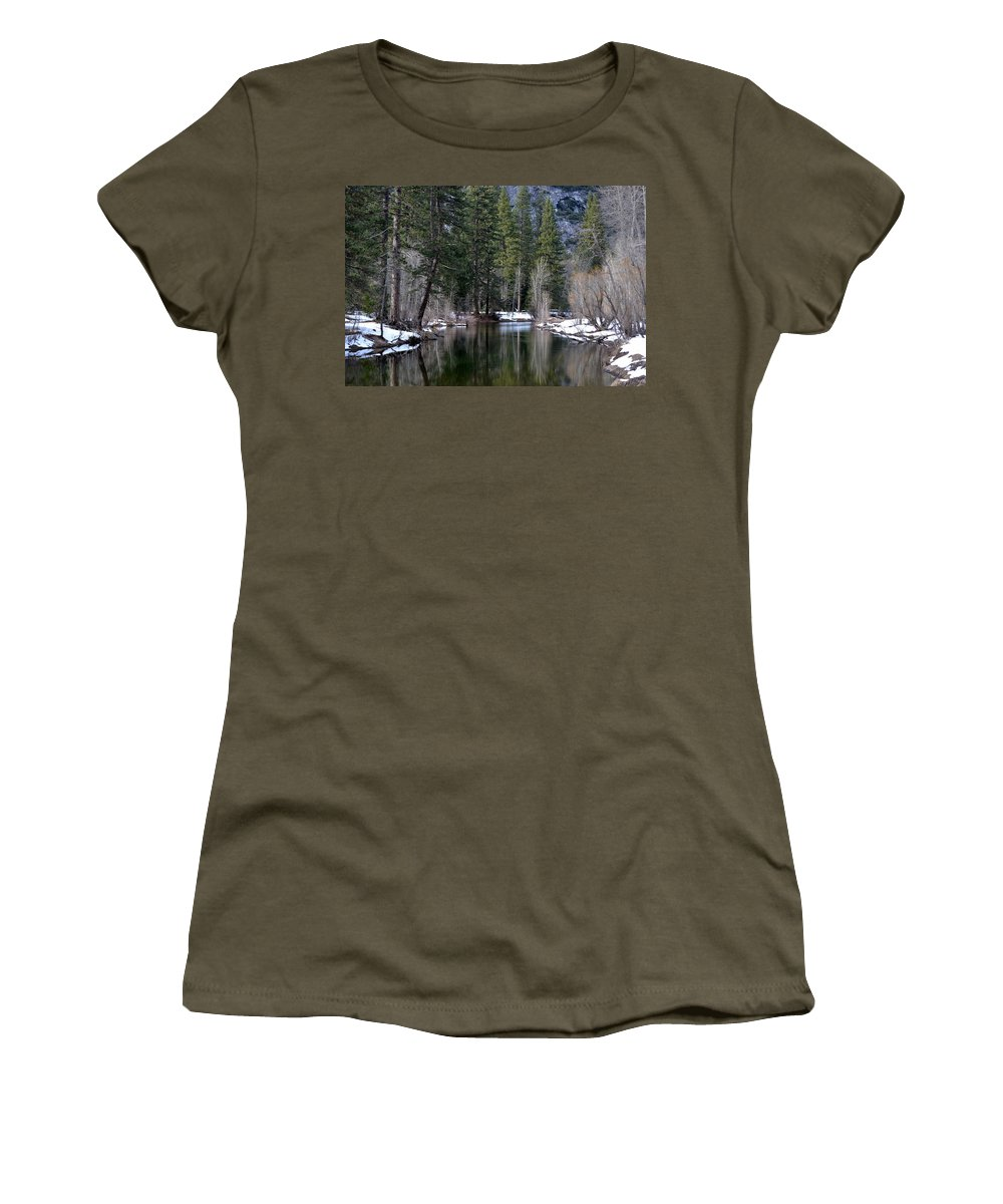 Yosemite Women's T-Shirt featuring the photograph Yosemite Reflections by Christine Owens