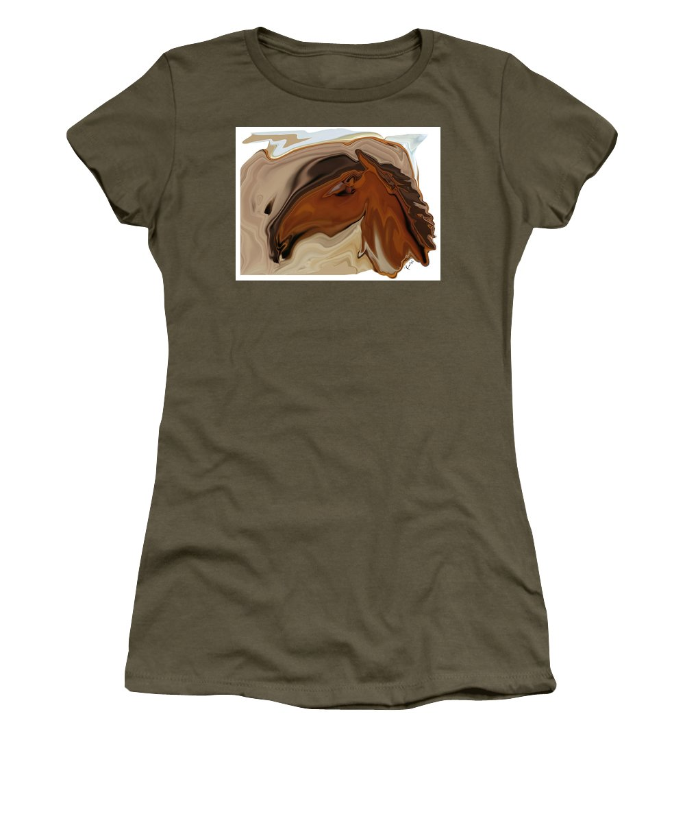 Youngster Women's T-Shirt (Athletic Fit) featuring the digital art Youngster by Rabi Khan
