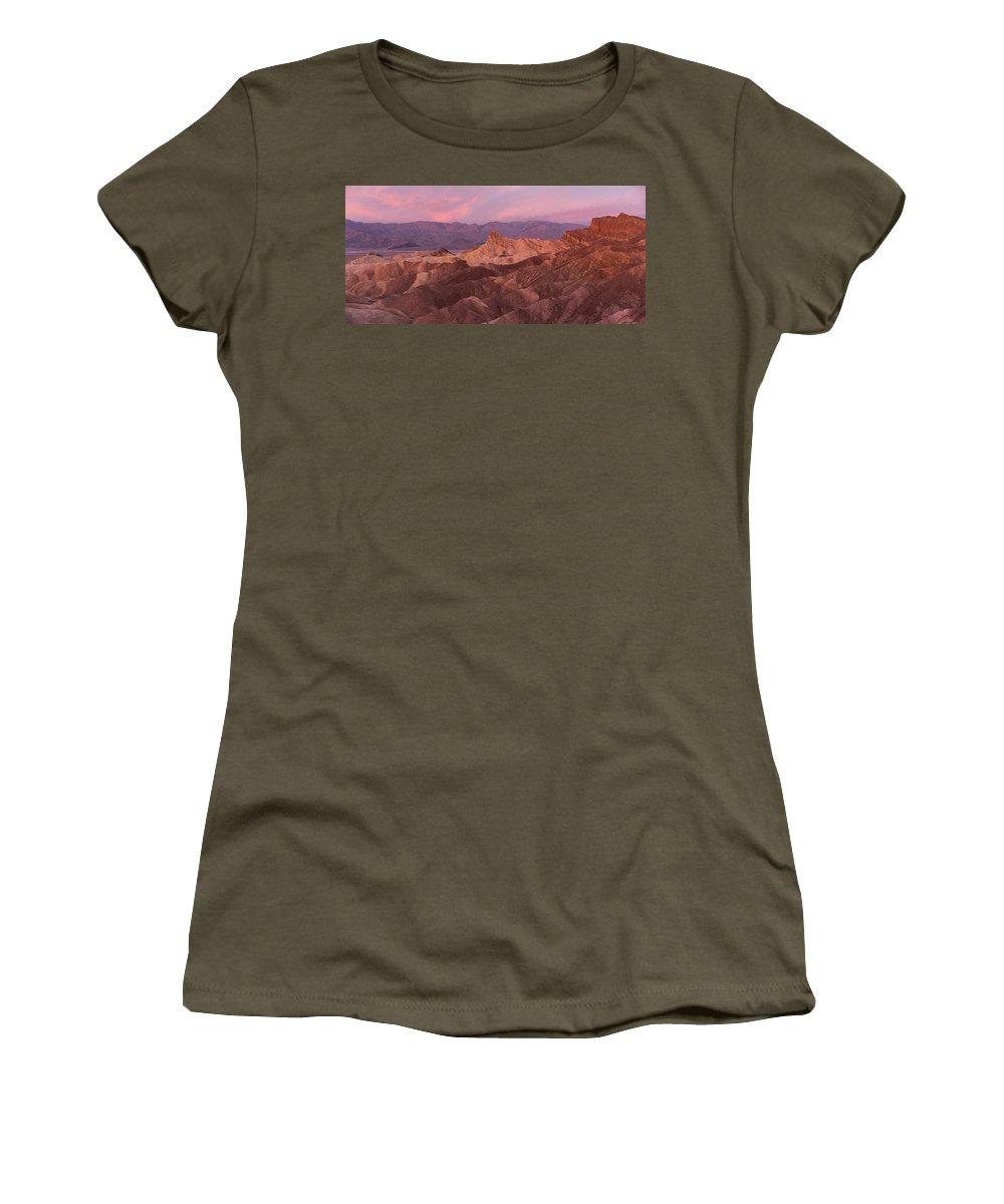 Zabriski Point Women's T-Shirt featuring the photograph Zabriski Point by Scott Rackers