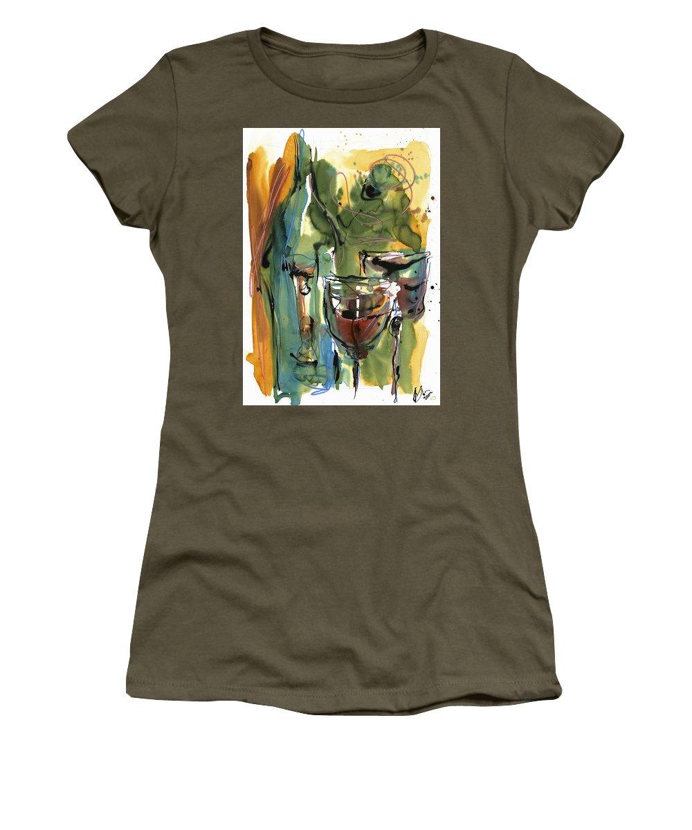 Wine Women's T-Shirt featuring the painting Zin-findel by Robert Joyner