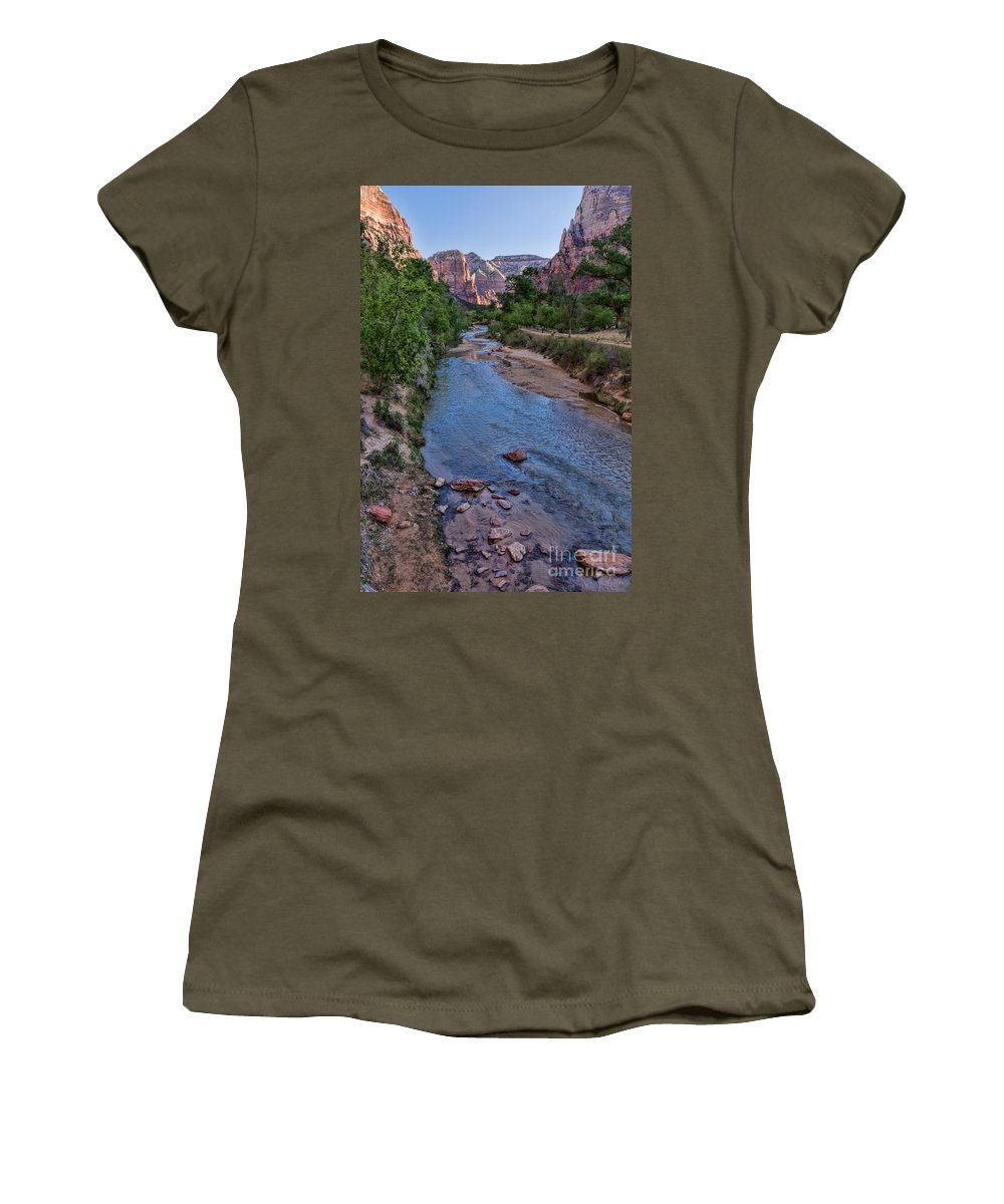 Utah Women's T-Shirt featuring the photograph Zion National Park by Peggy Hughes