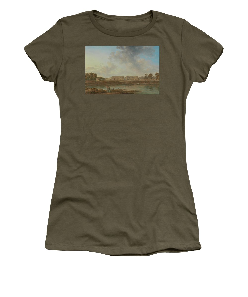 Alexandre-jean Noël Women's T-Shirt featuring the painting A View Of Place Louis Xv by Alexandre-Jean Noel