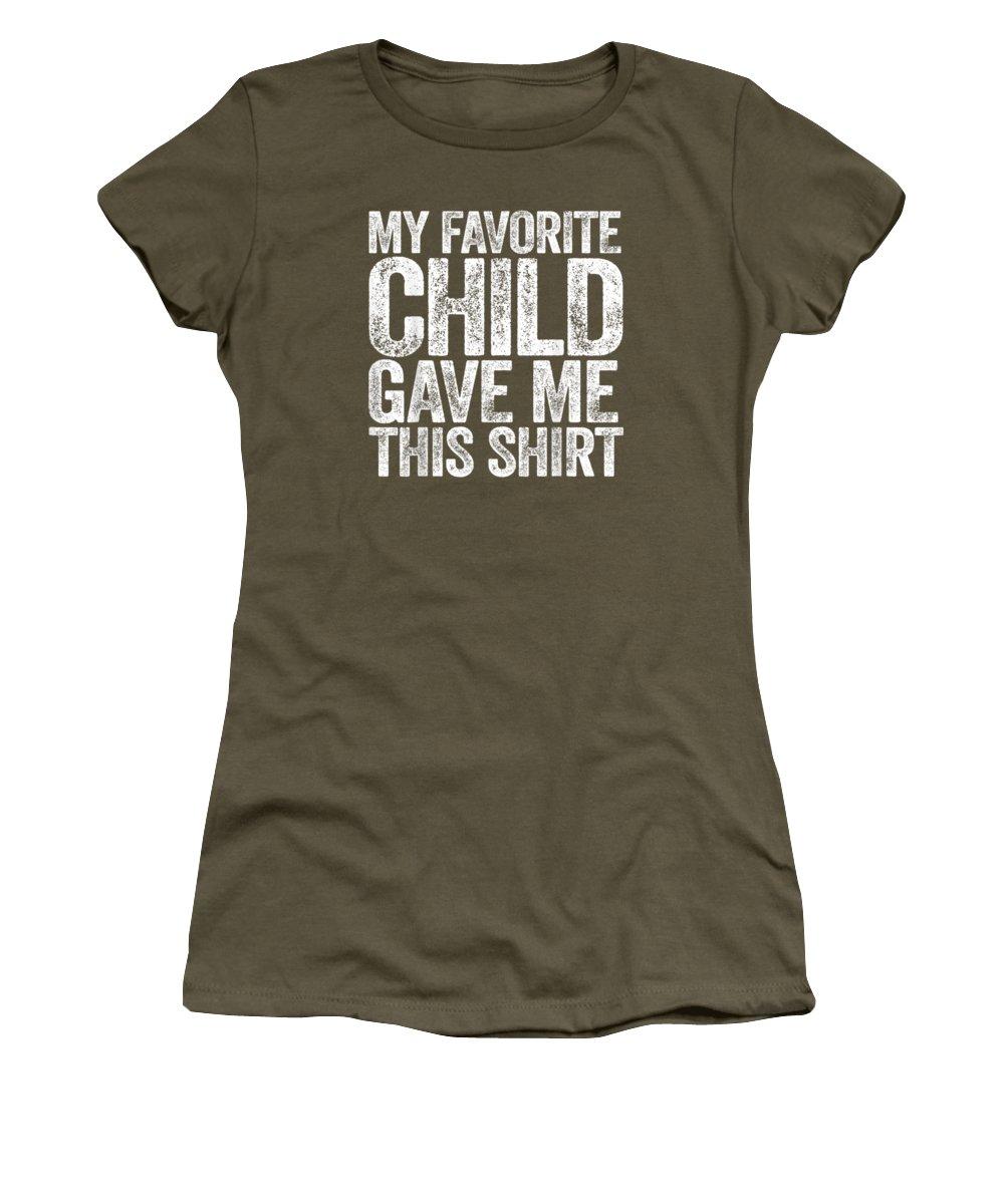 men's Novelty T-shirts Women's T-Shirt featuring the digital art My Favorite Child Gave Me This Shirt T-shirt by Do David