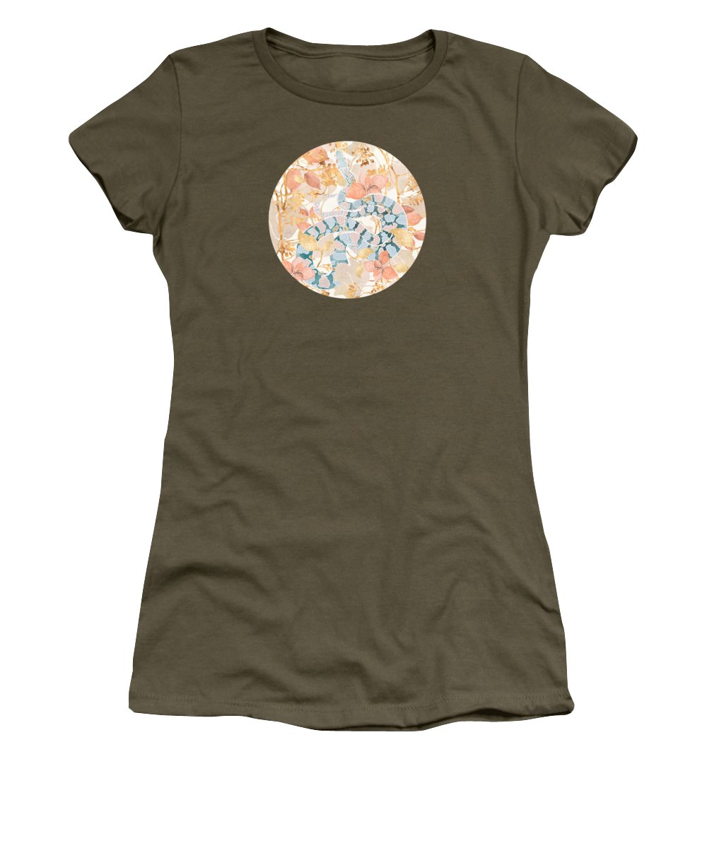 Coral Women's T-Shirt featuring the digital art Coral Spring Garden by Spacefrog Designs