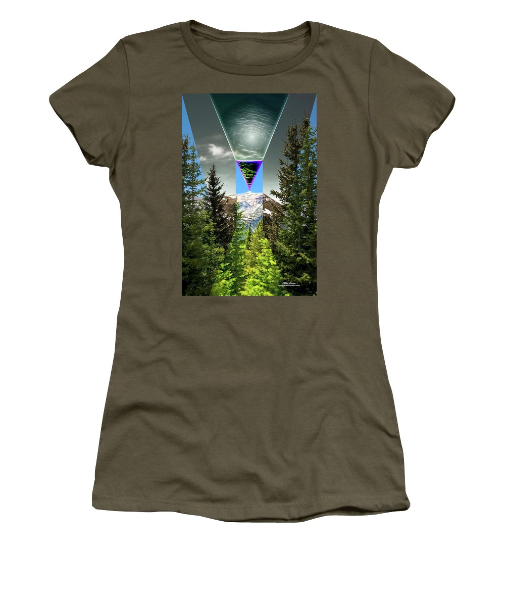 Mount Lincoln Women's T-Shirt featuring the photograph Mount Lincoln's Locus by Mike Braun