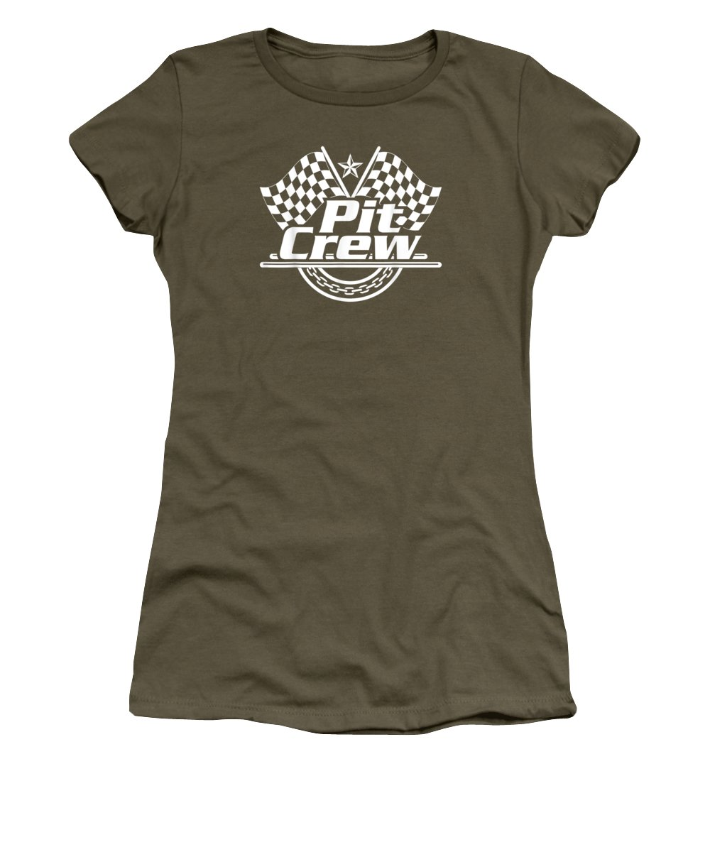 girls' Novelty T-shirts Women's T-Shirt featuring the digital art Pit Crew Shirt Race Car Themed Birthday Party by Do David