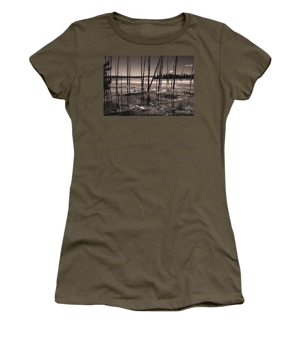 Sulfur Field Women's T-Shirt featuring the photograph Sulfur Field by Mae Wertz