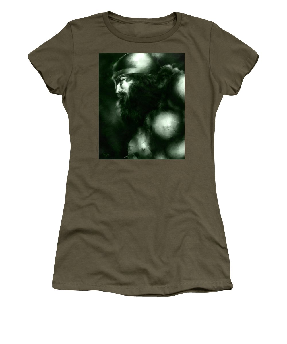 Thor Women's T-Shirt featuring the mixed media Thor by Curtiss Shaffer