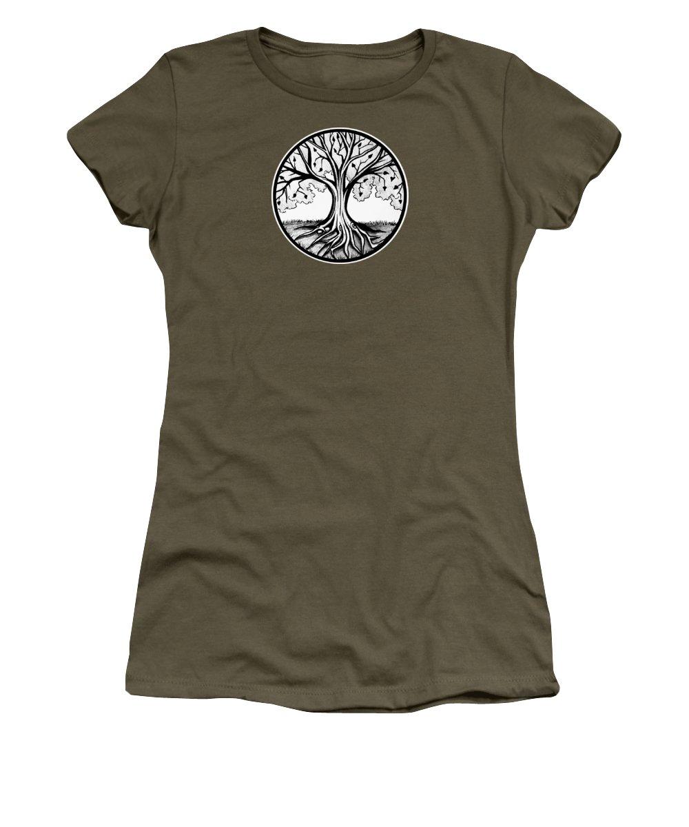 Grayscale Drawings Women's T-Shirts