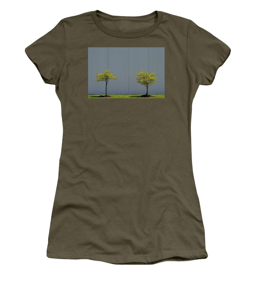 Urban Women's T-Shirt featuring the photograph Two Trees by Stuart Allen