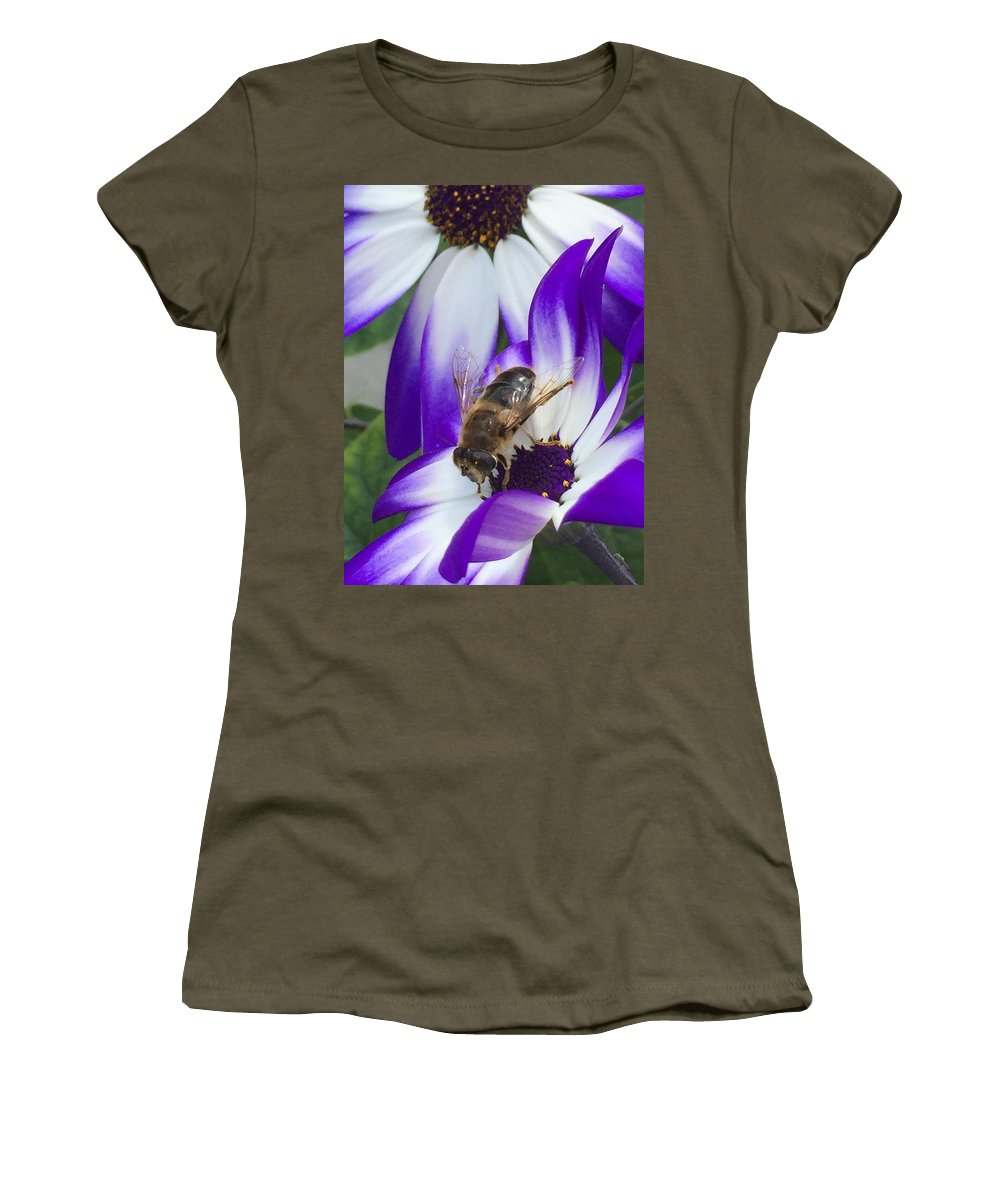 Wild Women's T-Shirt featuring the photograph Wild Bee by Patricia Piotrak