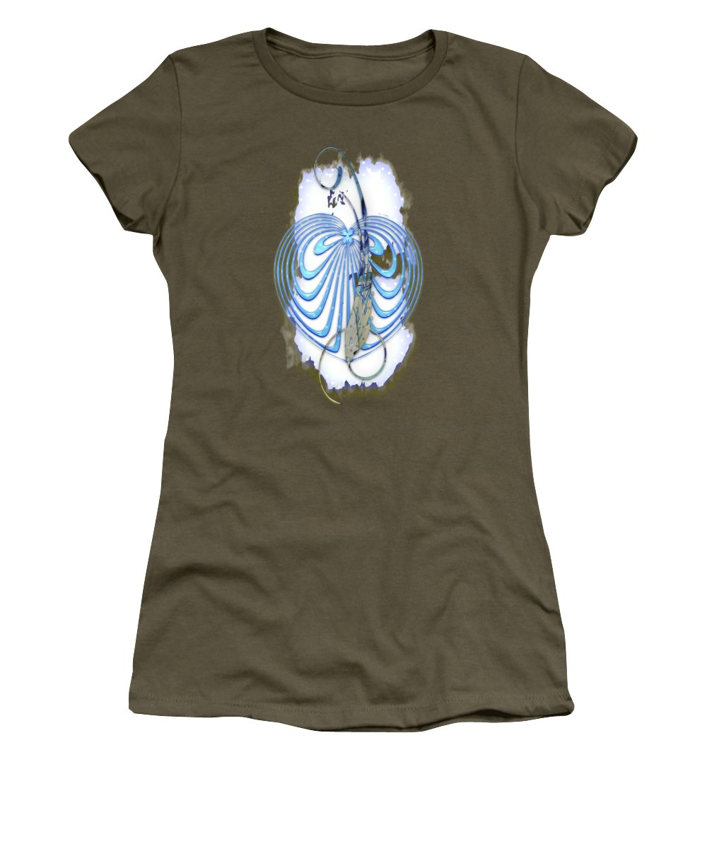 With Love Women's T-Shirt featuring the mixed media With Love by Marvin Blaine