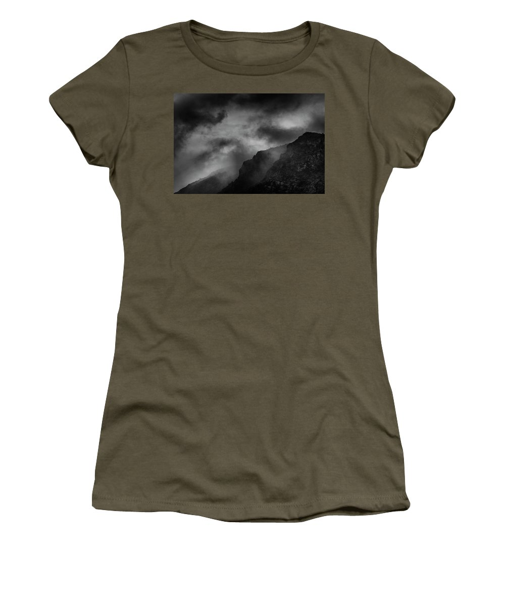 Cloud Women's T-Shirt featuring the photograph Dramatic Mountain Sky by Vicente Sargues