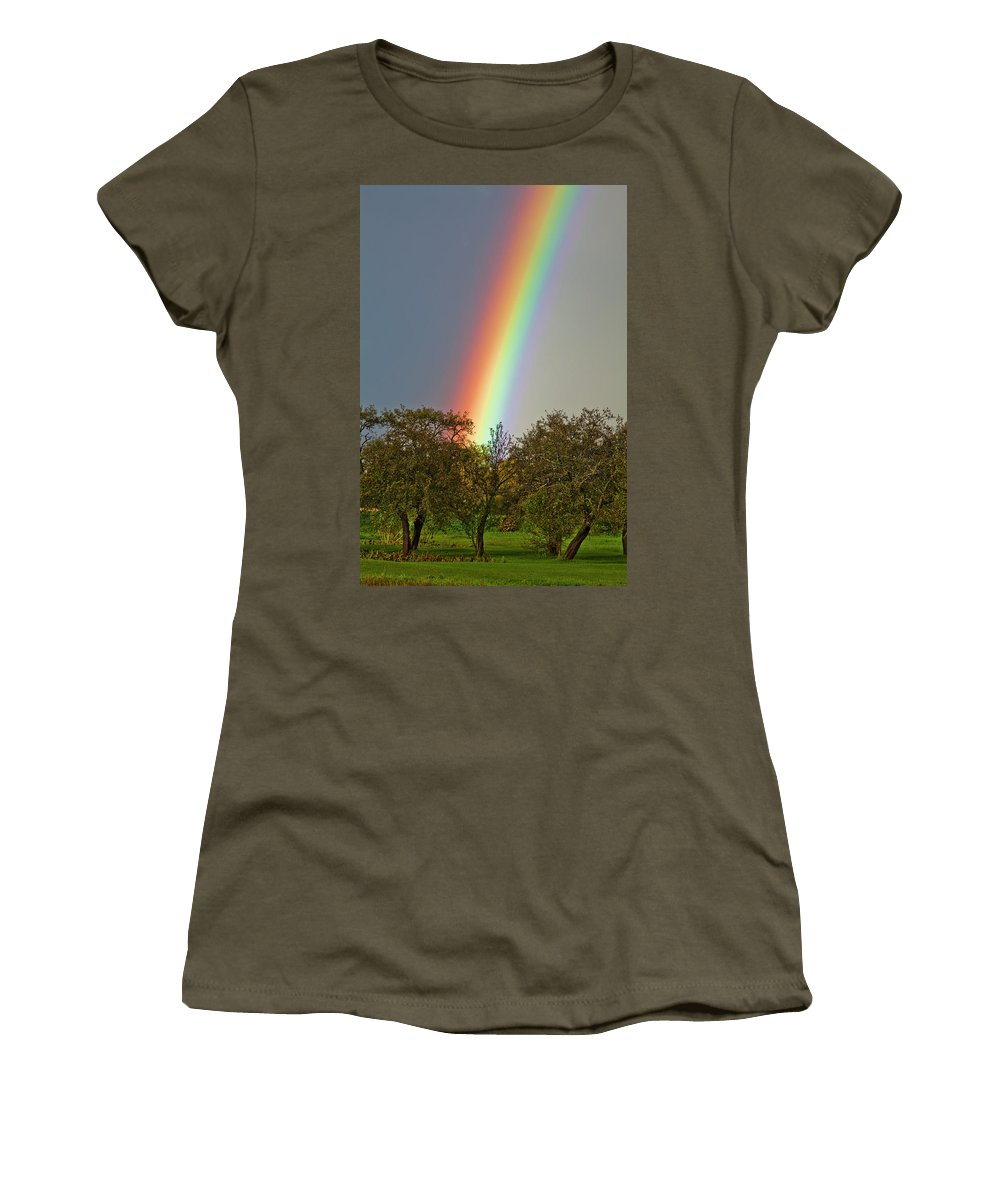 Rainbow Women's T-Shirt featuring the photograph Rainbow by Trevor Slauenwhite