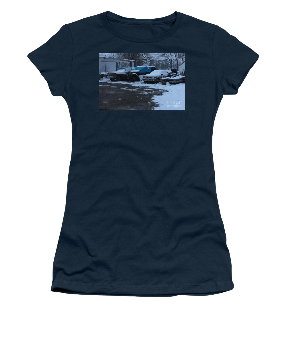 Old Car Prints Women's T-Shirt featuring the photograph  Old Rust by R A W M