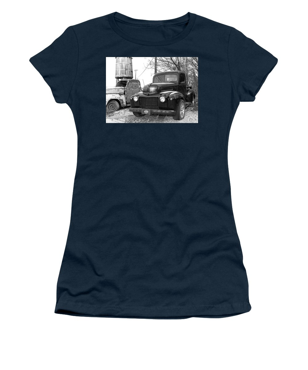 Old Trucks Women's T-Shirt featuring the photograph Forties Ford Pickup by Jim Smith