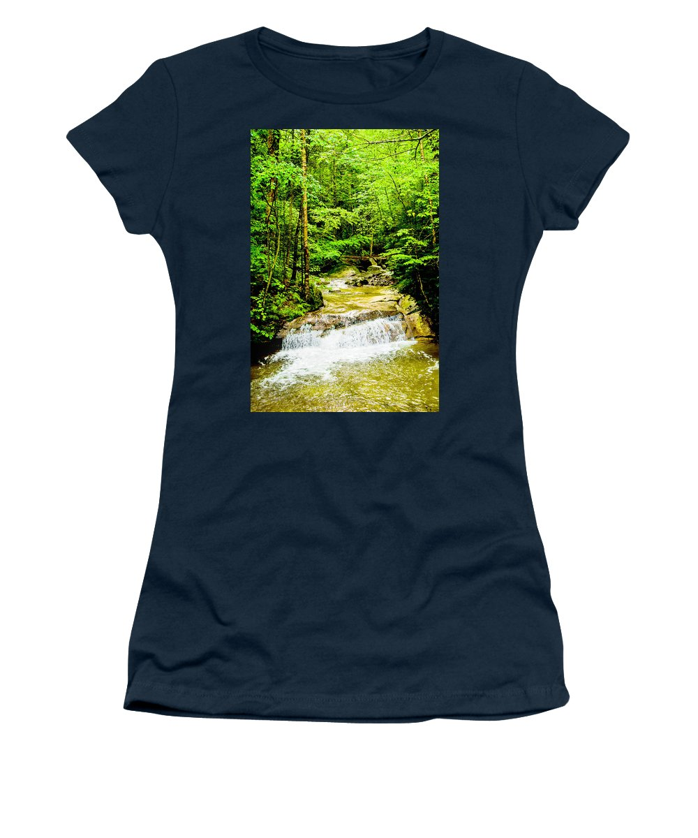 Crawford Notch Women's T-Shirt featuring the photograph Oasis by Greg Fortier