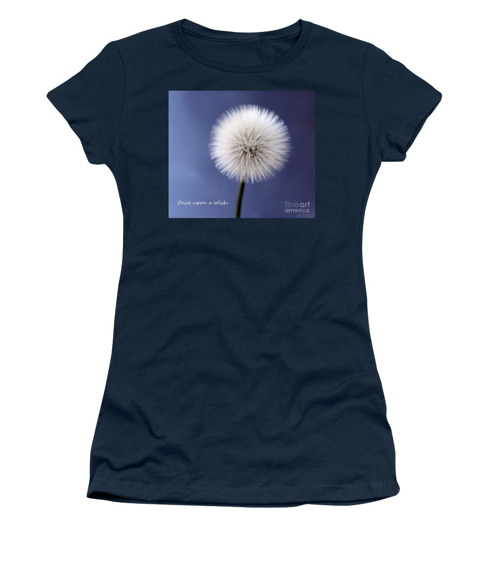 Dandelion Women's T-Shirt featuring the photograph Once Upon A Wish by Krissy Katsimbras