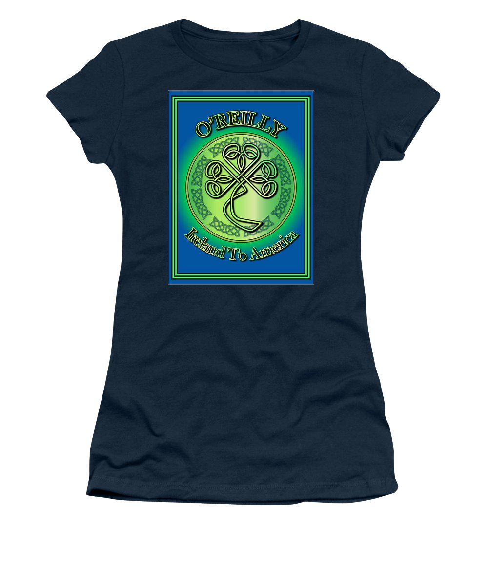 O'reilly Women's T-Shirt featuring the digital art O'reilly Ireland To America by Ireland Calling