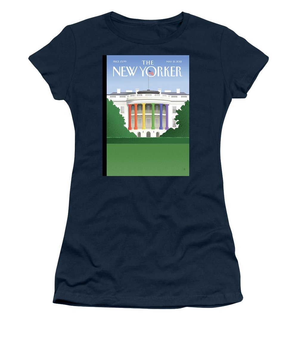 President Women's T-Shirt featuring the painting Spectrum of Light by Bob Staake