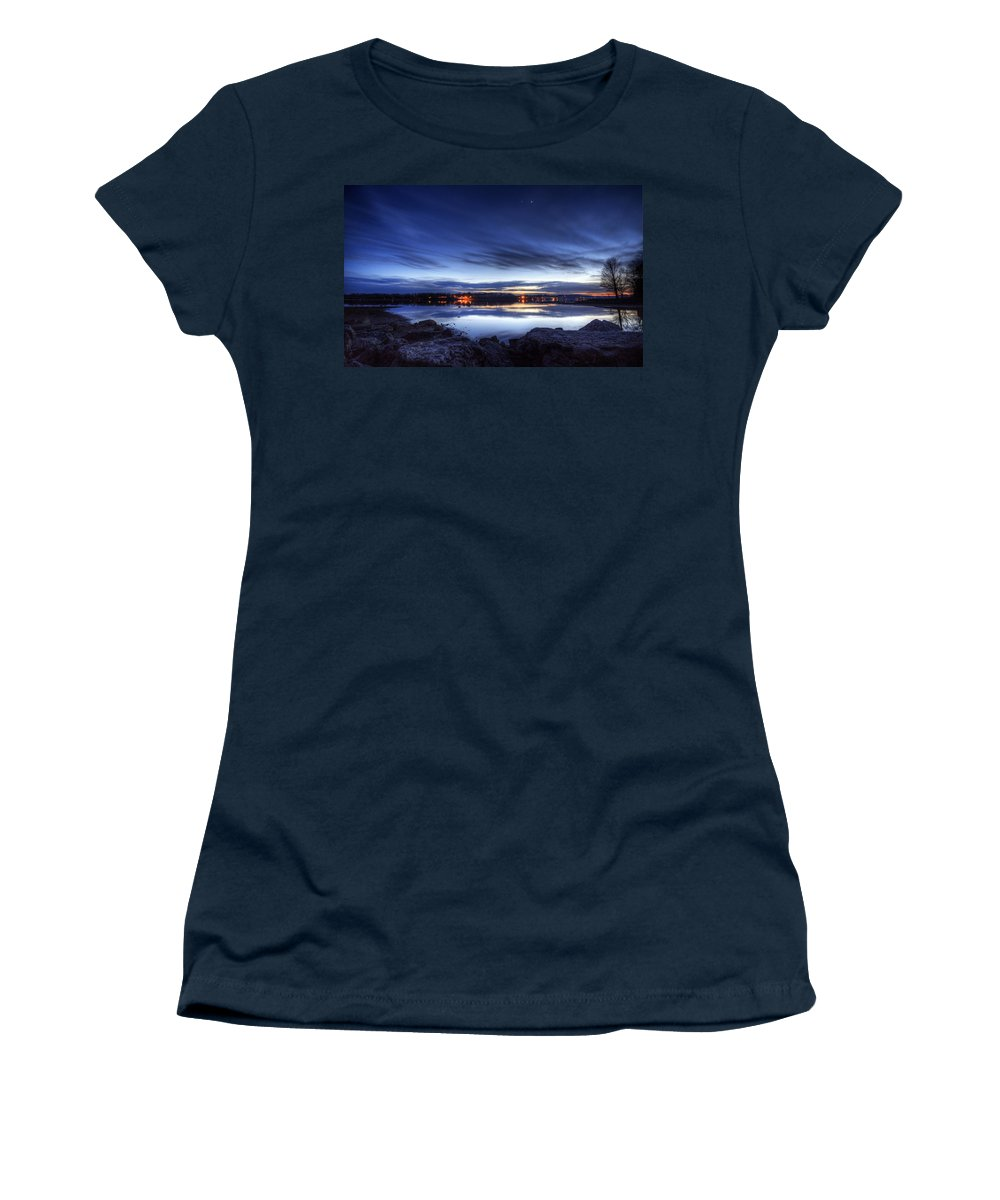 Sunset Women's T-Shirt featuring the photograph Winter Sunset by David Dufresne
