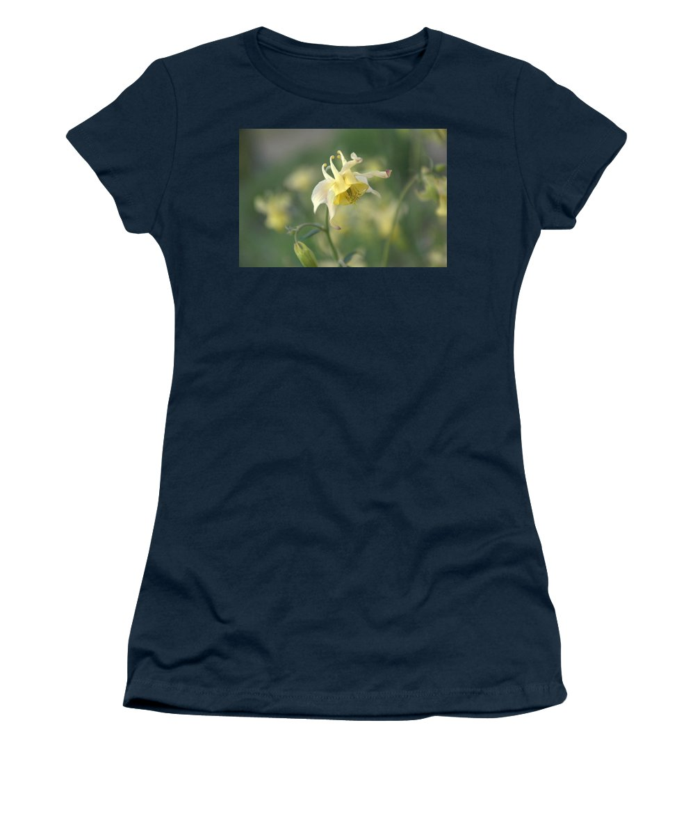 Flower Women's T-Shirt featuring the photograph Yellow Columbine by Frank Madia