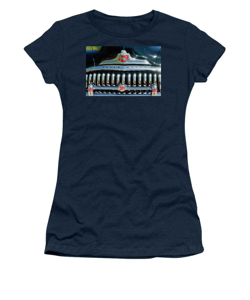 1947 Buick Women's T-Shirt featuring the photograph 1947 Buick Sedanette Grille by Jill Reger