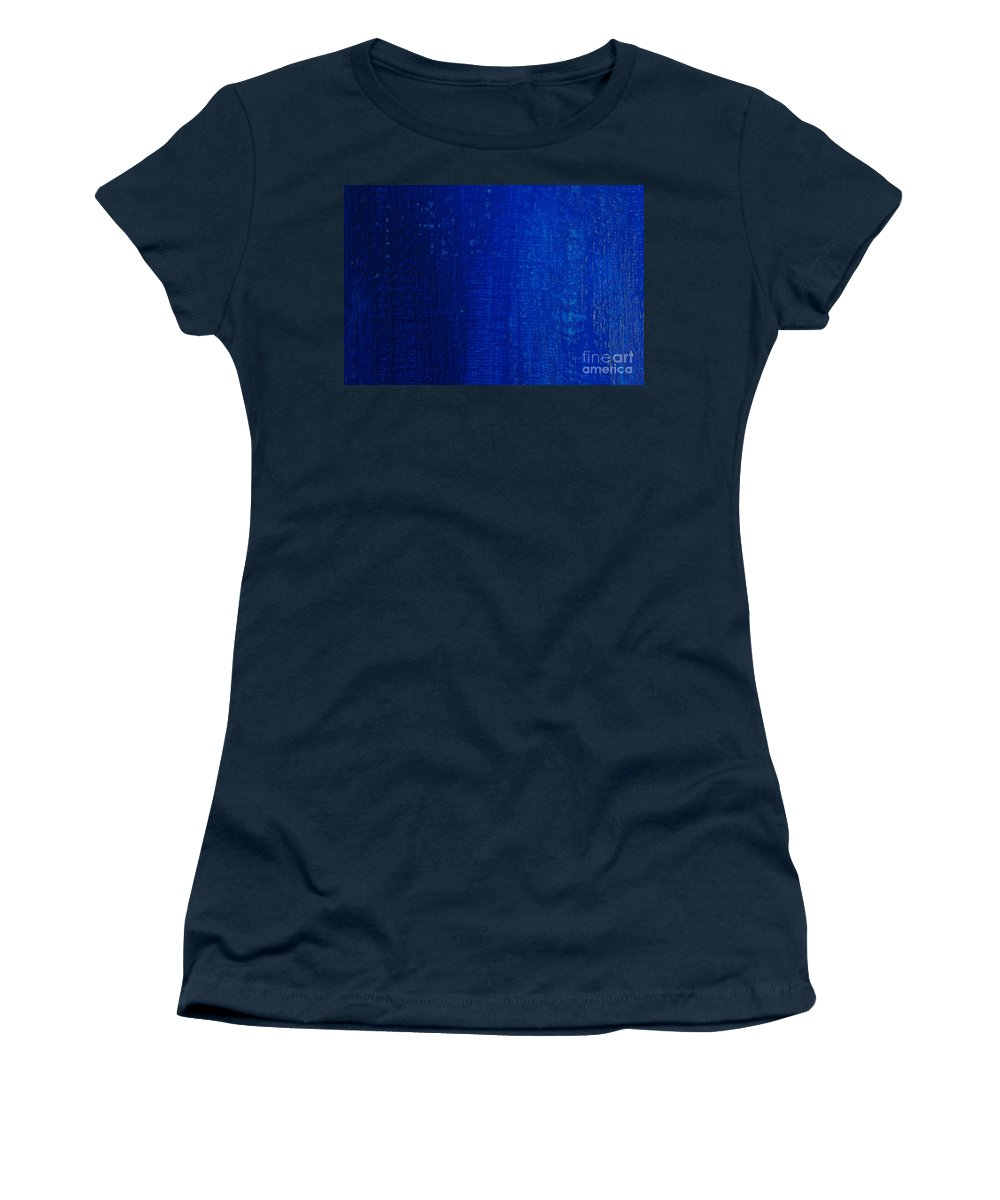 Paintings Women's T-Shirt featuring the photograph Blue Strokes by Pharaoh Martin
