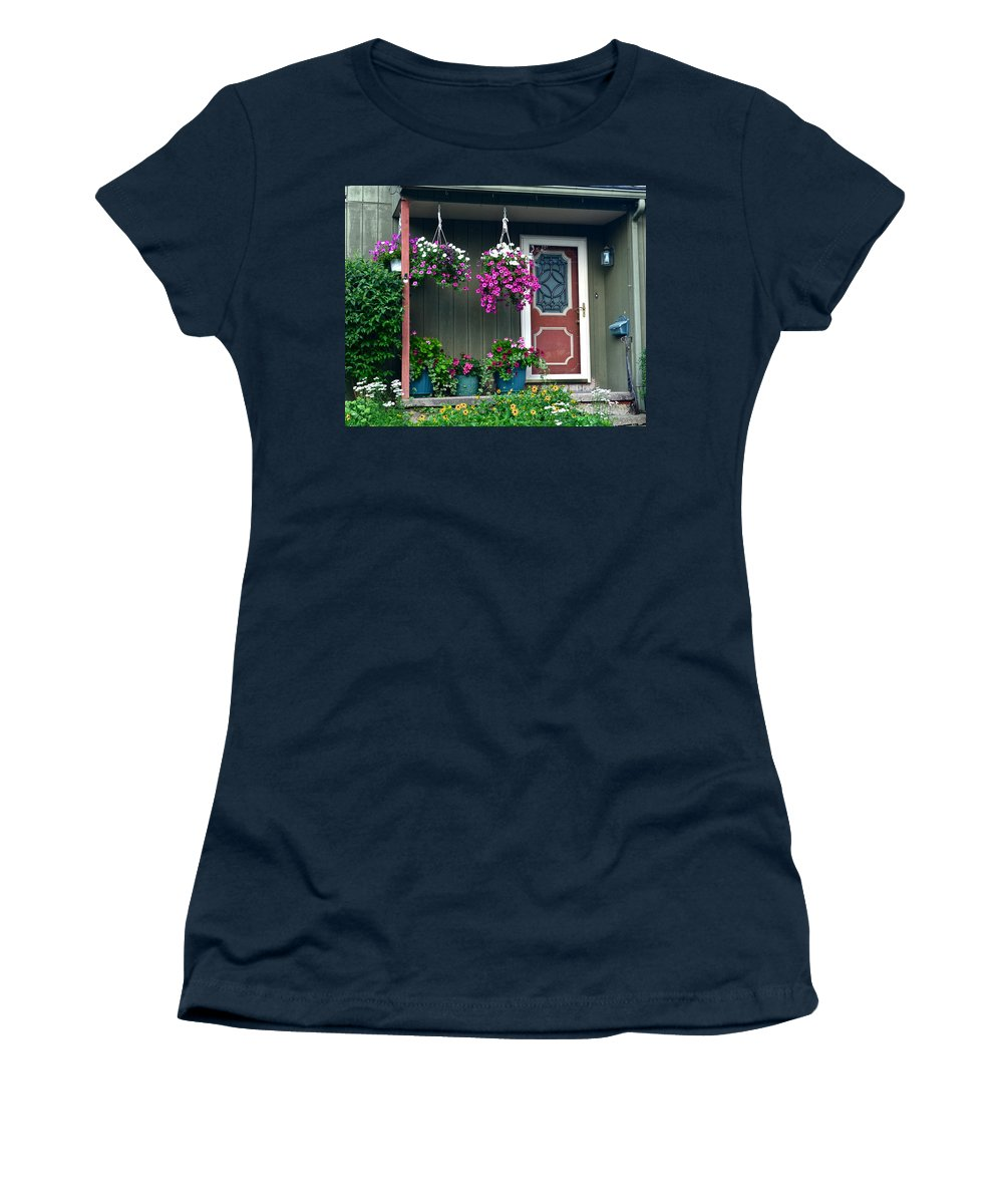 Home Women's T-Shirt featuring the photograph Home Sweet Home by Frozen in Time Fine Art Photography