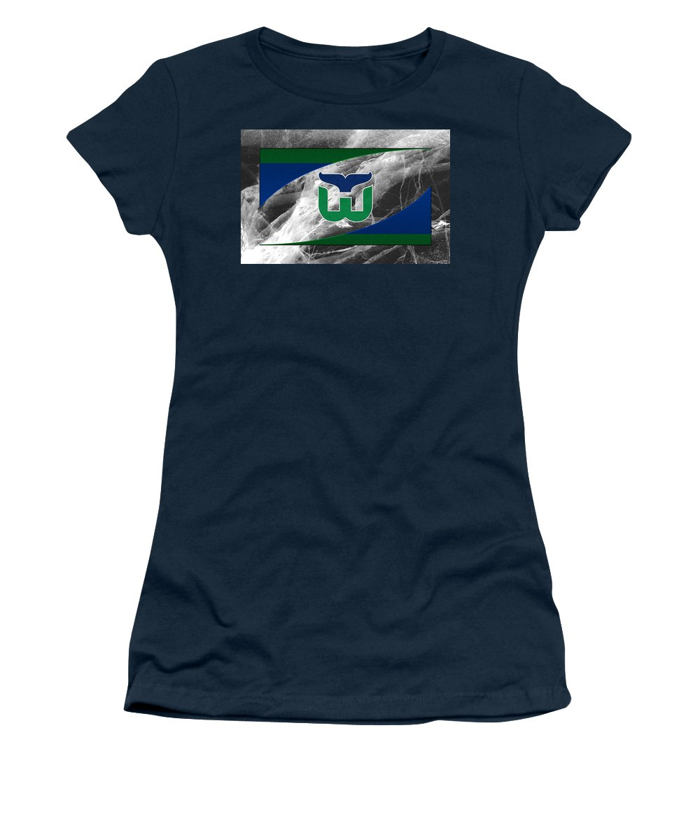 Whalers Women's T-Shirt featuring the photograph Hartford Whalers by Joe Hamilton