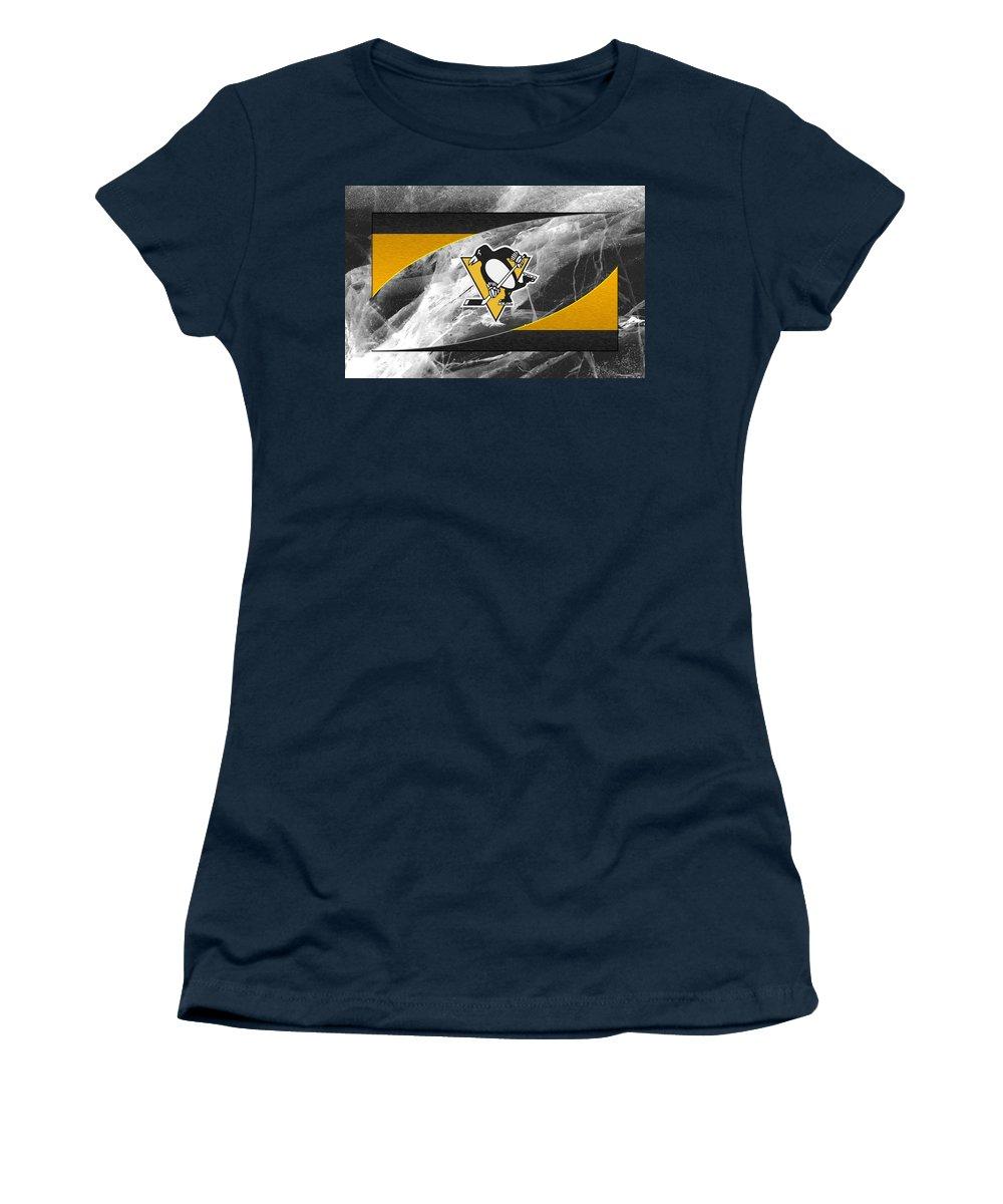 Penguins Women's T-Shirt featuring the photograph Pittsburgh Penguins by Joe Hamilton