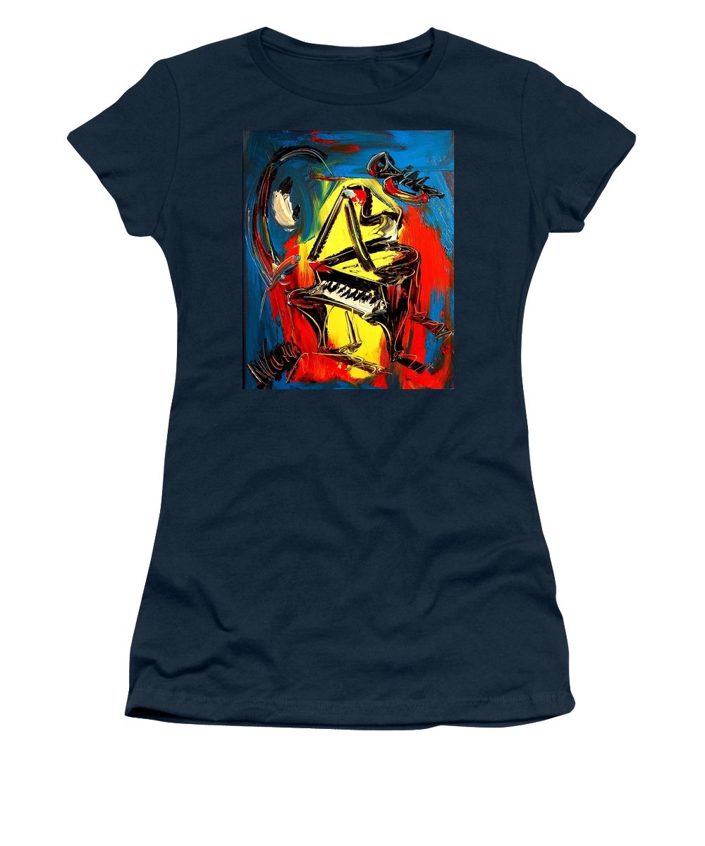 Women's T-Shirt featuring the painting Piano by Mark Kazav