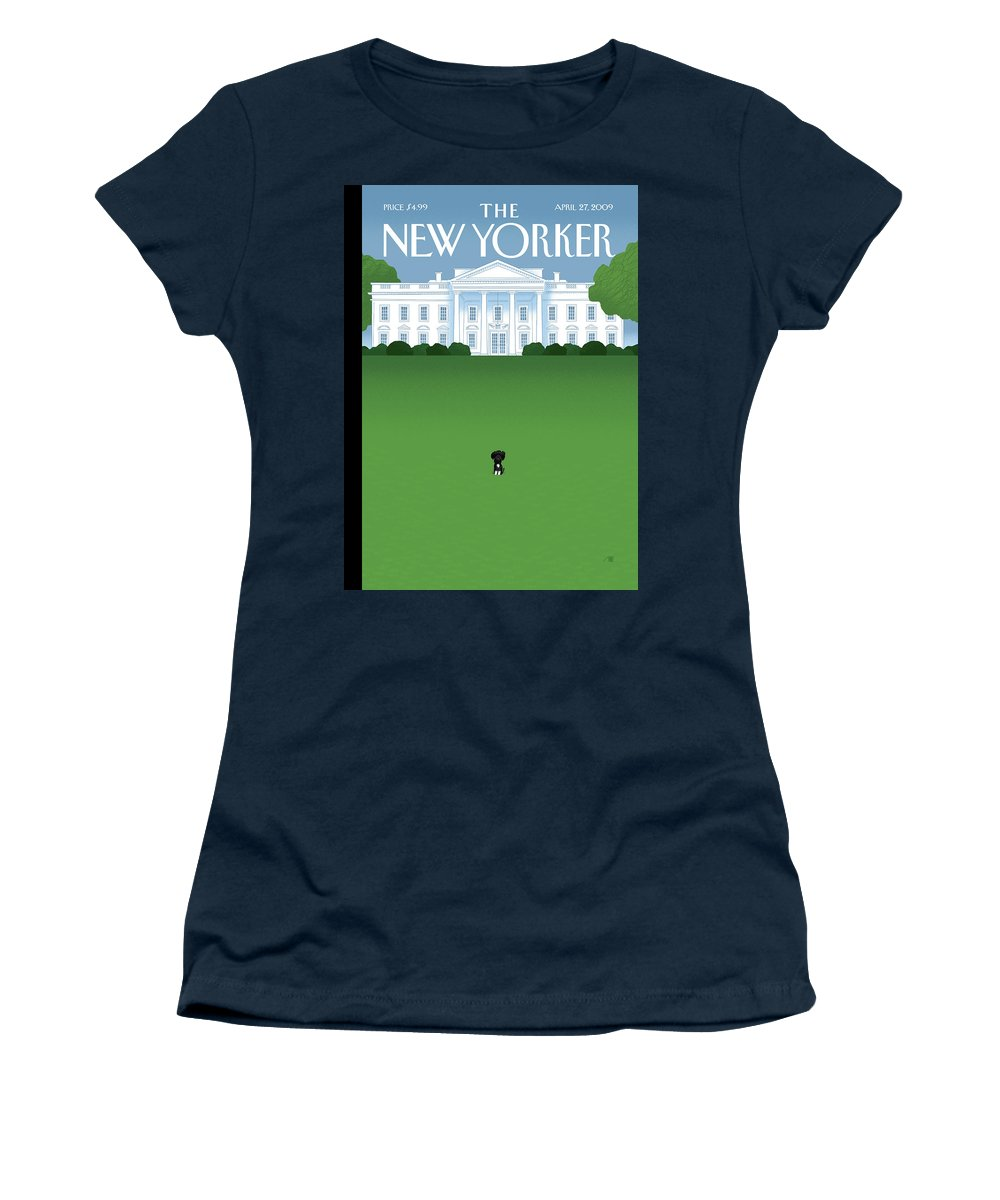 Obama Women's T-Shirt featuring the painting Bo by Bob Staake