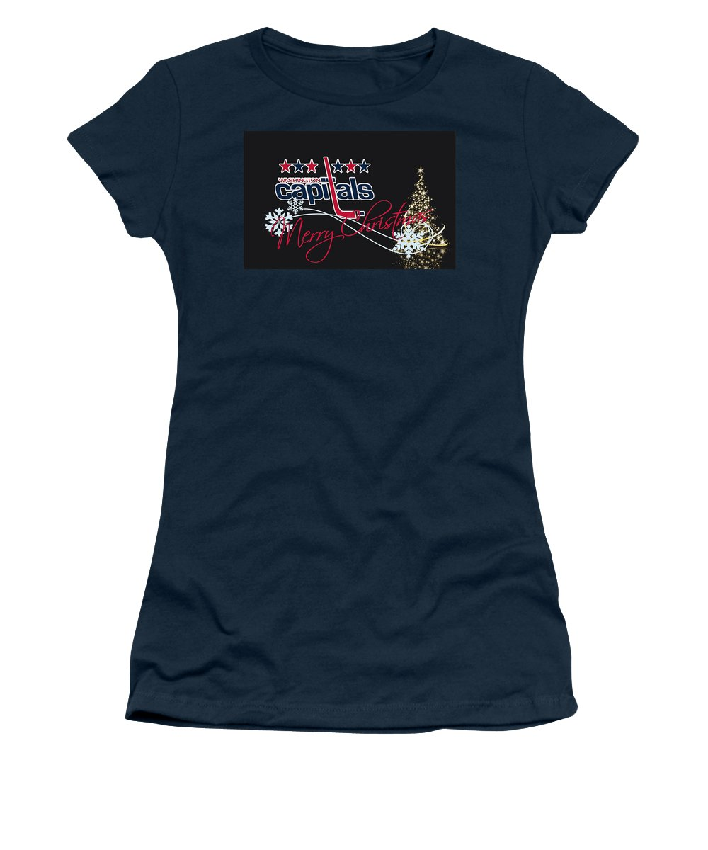 Capitals Women's T-Shirt featuring the photograph Washington Capitals by Joe Hamilton