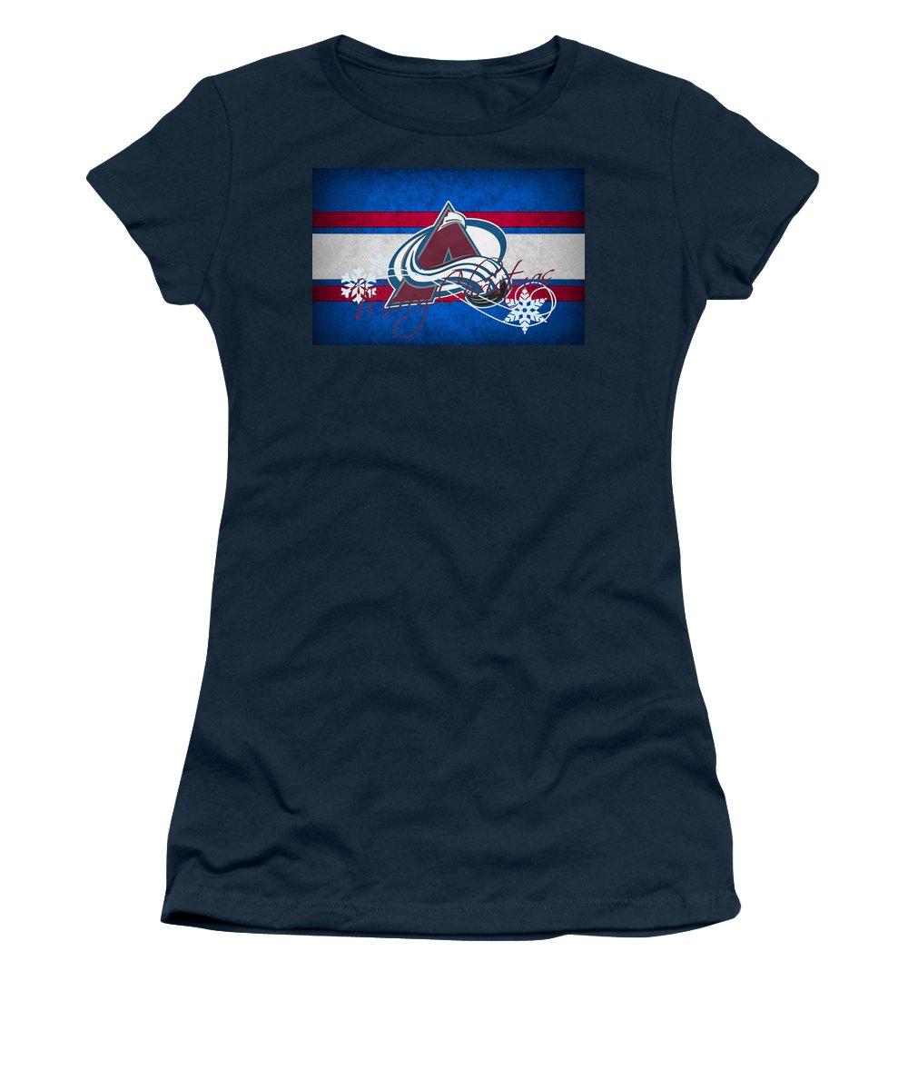 Avalanche Women's T-Shirt featuring the photograph Colorado Avalanche by Joe Hamilton