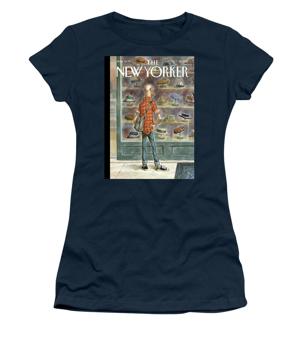 Top Choice Women's T-Shirt featuring the painting Top Choice by Peter de Seve