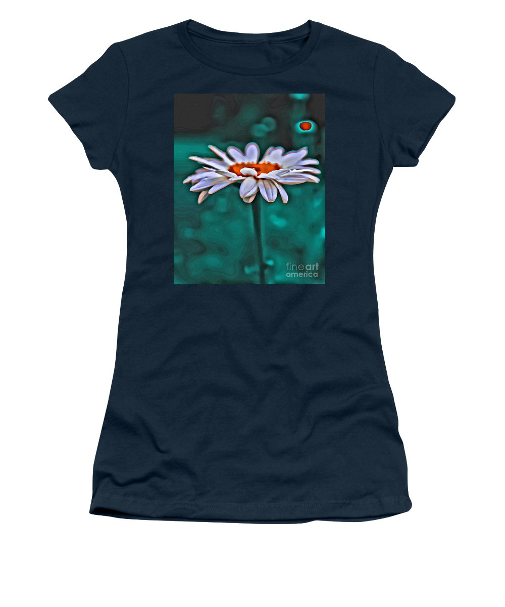 Daisy Women's T-Shirt (Athletic Fit) featuring the photograph A Flower For You by Scott Hervieux