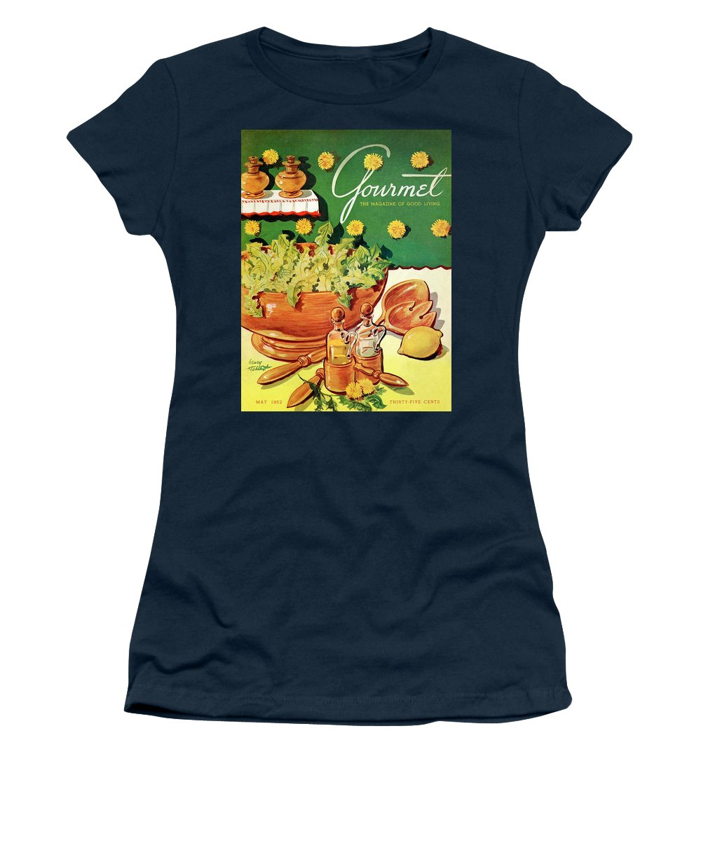 Food Women's T-Shirt featuring the photograph A Gourmet Cover Of Dandelion Salad by Henry Stahlhut