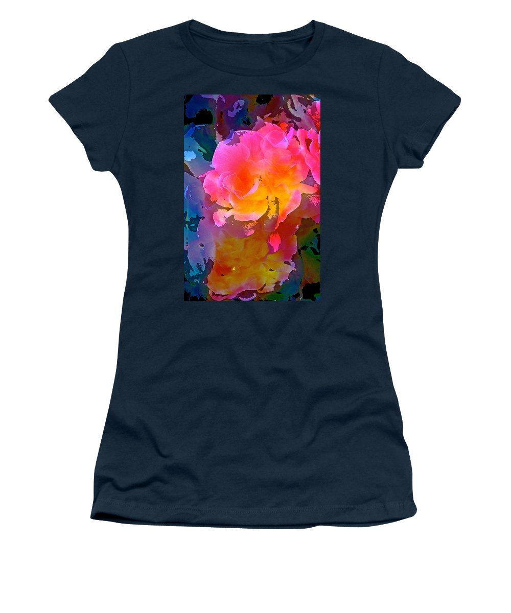 Abstract Women's T-Shirt featuring the photograph Abstract 299 by Pamela Cooper