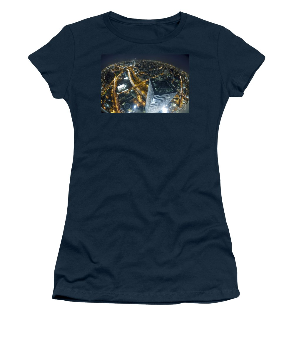 Aerial View Women's T-Shirt featuring the photograph Aerial View Of Tel Aviv by Nir Ben-Yosef