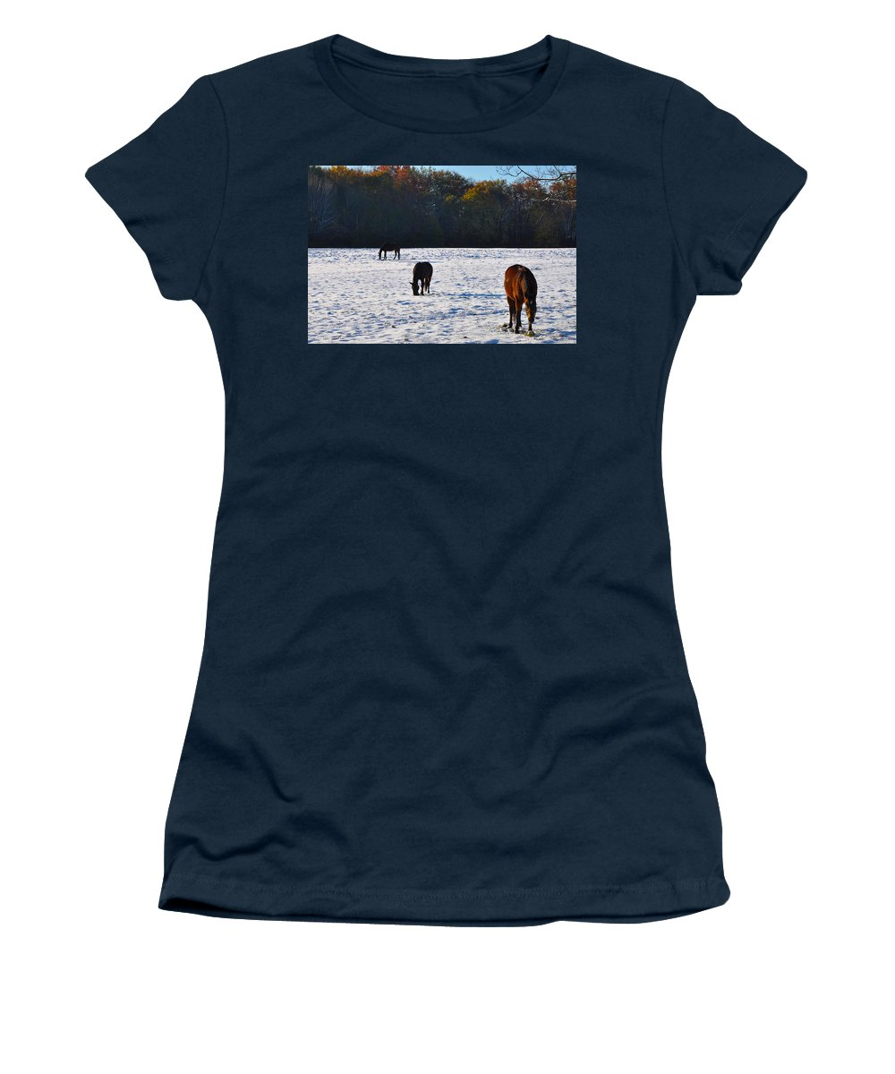 And Women's T-Shirt featuring the photograph And Then There Were Three by Bill Cannon