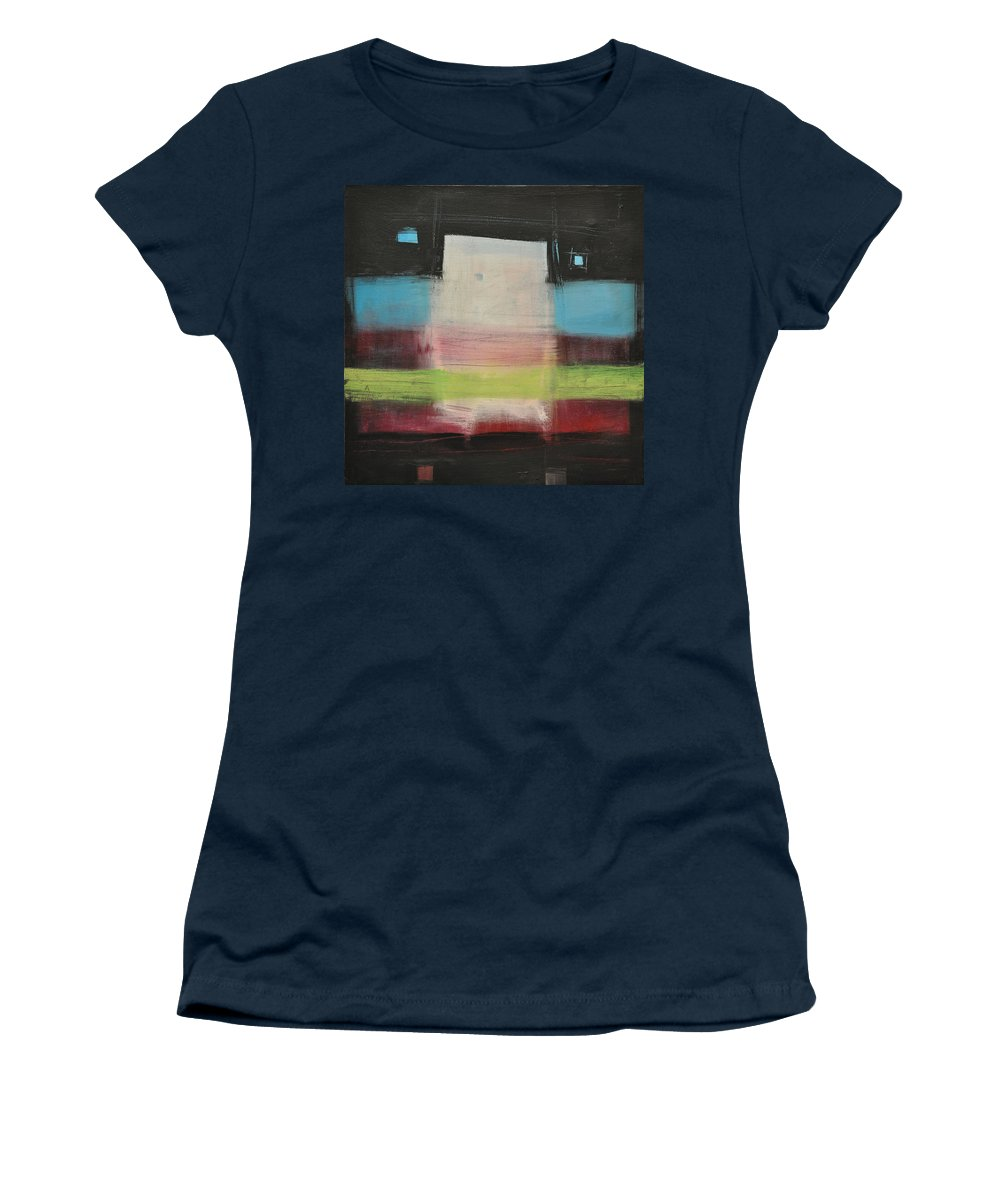 Abstract Women's T-Shirt (Athletic Fit) featuring the painting Aphex Twin by Tim Nyberg