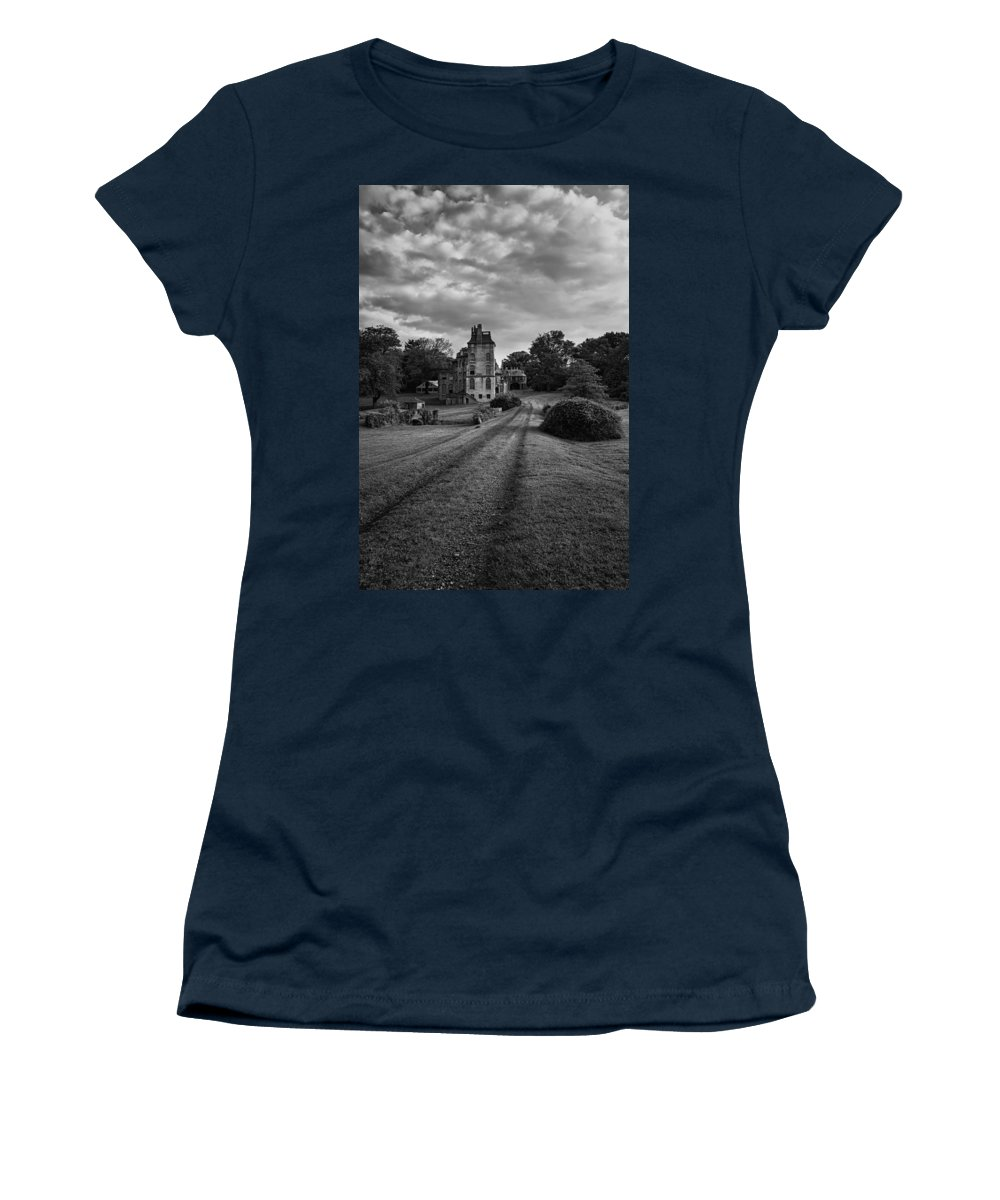 Byzantine Women's T-Shirt featuring the photograph Architectural Treasure Bw by Susan Candelario