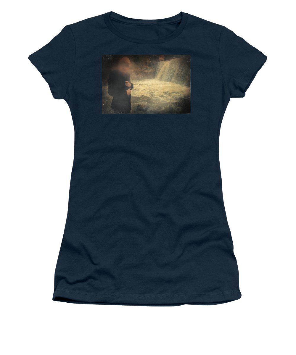 Surreal Women's T-Shirt featuring the photograph Are You There ? by Zapista Zapista