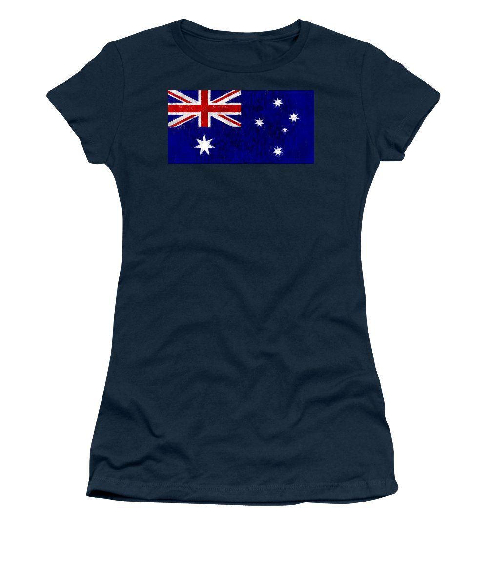 Australia Women's T-Shirt featuring the digital art Australia Flag by World Art Prints And Designs