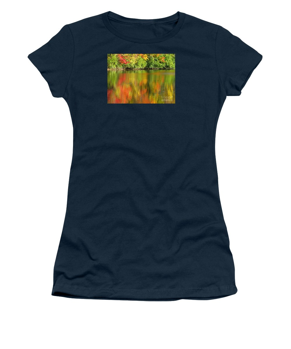 Autumn Women's T-Shirt (Athletic Fit) featuring the photograph Autumn Brilliance by Ann Horn