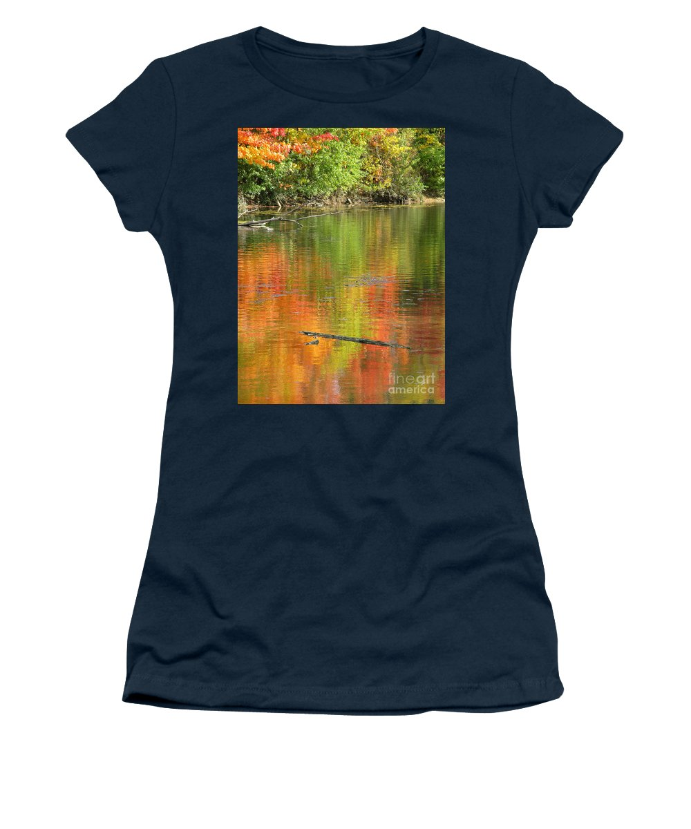 Autumn Women's T-Shirt (Athletic Fit) featuring the photograph Autumn Jewel by Ann Horn