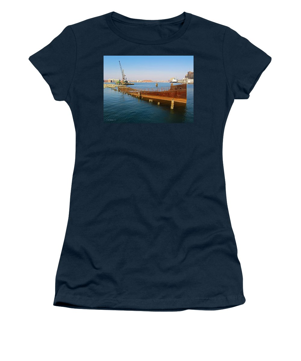 2d Women's T-Shirt (Athletic Fit) featuring the photograph Baltimore Museum Of Industry by Brian Wallace
