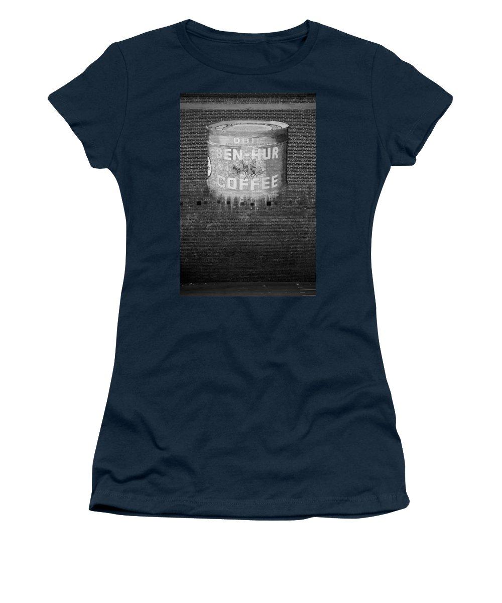 Ben Hur Coffee Women's T-Shirt featuring the photograph Ben Hur Coffee by Peter Tellone